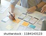 ux designer team creative...   Shutterstock . vector #1184143123