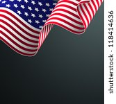 american flag vector... | Shutterstock .eps vector #118414636