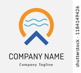 modern logo with abstract shape ... | Shutterstock .eps vector #1184149426