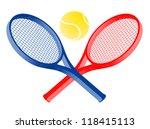 tennis sport | Shutterstock .eps vector #118415113