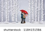 illustration of love and winter ... | Shutterstock .eps vector #1184151586