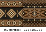 ethnic seamless patterns.... | Shutterstock .eps vector #1184151736