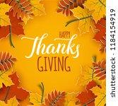 thanksgiving holiday banner... | Shutterstock .eps vector #1184154919