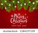 holiday background with... | Shutterstock .eps vector #1184157139