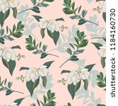 floral pattern with delicate... | Shutterstock .eps vector #1184160730