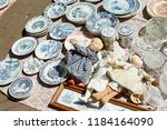 flea market in delft  the... | Shutterstock . vector #1184164090