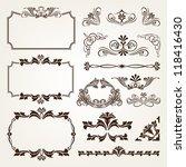 calligraphic vector vintage... | Shutterstock .eps vector #118416430