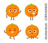 Cute Cartoon Orange Character...
