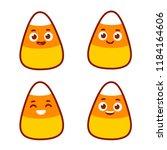 cute cartoon candy corn set... | Shutterstock .eps vector #1184164606
