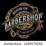 vintage barbershop logo | Shutterstock .eps vector #1184174290