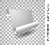 white ribbon. banner. poster.... | Shutterstock .eps vector #1184176783