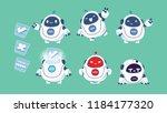 fat robot character mascot