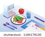 food agenda and diet app... | Shutterstock .eps vector #1184178130