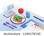 food agenda and diet app... | Shutterstock .eps vector #1184178130