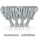 The Word Government On Marble...