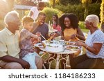 black multi generation family... | Shutterstock . vector #1184186233