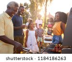 multi generation black family... | Shutterstock . vector #1184186263