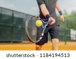 close up of man playing tennis... | Shutterstock . vector #1184194513