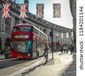 london  may  2018  regent... | Shutterstock . vector #1184201146