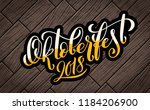 beer festival decoration badge... | Shutterstock .eps vector #1184206900