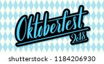 beer festival decoration badge... | Shutterstock .eps vector #1184206930