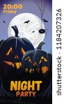 night party. friday lettering.... | Shutterstock .eps vector #1184207326