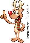 Cute Cartoon Christmas Reindeer....