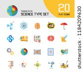 science type icon set.... | Shutterstock .eps vector #1184209630