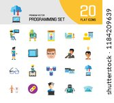programming icon set. robot... | Shutterstock .eps vector #1184209639