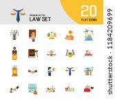 law icon set. copyright hand... | Shutterstock .eps vector #1184209699