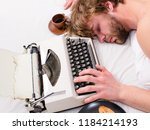 writer used old fashioned... | Shutterstock . vector #1184214193