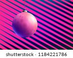 colorful glass ball on creative ... | Shutterstock .eps vector #1184221786