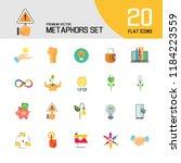 metaphors vector icon set.... | Shutterstock .eps vector #1184223559