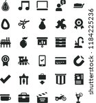 solid black flat icon set bank... | Shutterstock .eps vector #1184225236