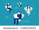 addicted to wifi concept.... | Shutterstock .eps vector #1184225623