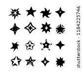 funny stars hand drawn icon set ... | Shutterstock .eps vector #1184225746