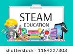 steam education poster | Shutterstock .eps vector #1184227303