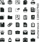 solid black flat icon set... | Shutterstock .eps vector #1184227960