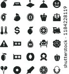 solid black flat icon set... | Shutterstock .eps vector #1184228119