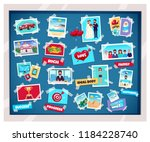 dreams vision board with... | Shutterstock .eps vector #1184228740