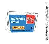 summer sale 20  banner | Shutterstock .eps vector #1184228893