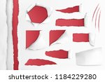set of holes in white paper... | Shutterstock .eps vector #1184229280