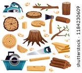 wood industry material tools... | Shutterstock .eps vector #1184230609