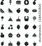 solid black flat icon set bib... | Shutterstock .eps vector #1184232820