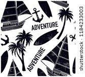 sailing adventures seamless... | Shutterstock .eps vector #1184233003