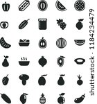 solid black flat icon set hot... | Shutterstock .eps vector #1184234479