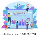small people working near big... | Shutterstock .eps vector #1184238760