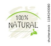 natural product 100 bio healthy ... | Shutterstock .eps vector #1184243080