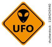 danger road signs ufo  | Shutterstock . vector #1184243440