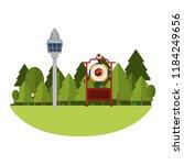 asian gong instrument | Shutterstock .eps vector #1184249656